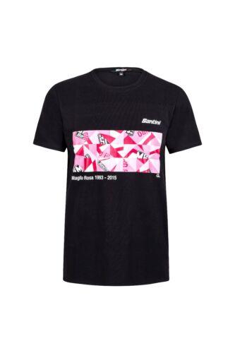 Men/'s Giro Maglia Rosa Art Series T-Shirt in Black//Pink