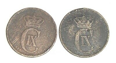 gamle danske kobbermønter