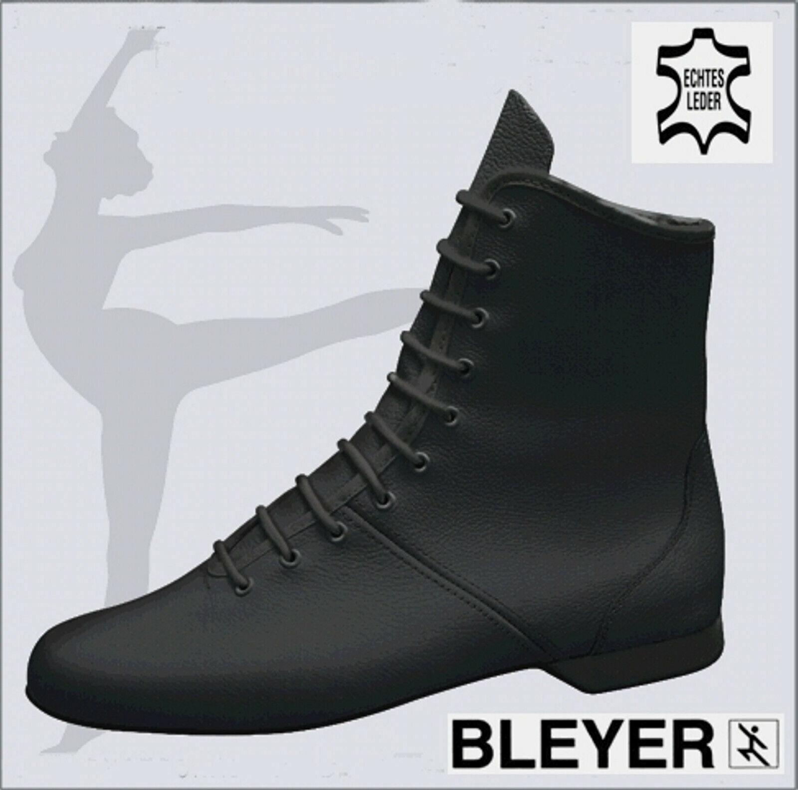 Bleyer 4620 guardia Stivali Stivali da ballo danza guardia Pelle, Nero, Misura 37