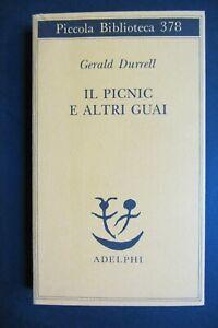 IL PICNIC E ALTRI GUAI Gerald Durrell  I ed. 1996 Adelphi Piccola Biblioteca 378