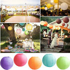 "30 X Round Paper Lantern 8""10""12"" For LED BULB Wedding Birthday Home Party Decor"