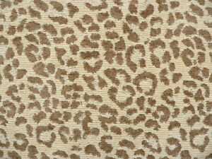 Image Is Loading Drapery Upholstery Fabric Chenille Animal Print Leopard Tan