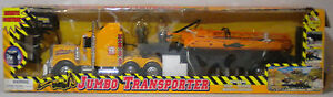 GLAD SUN VTG 90's JUMBO TRANSPORTER TRUCK WITH CRANE & WORKERS FACTORY MISTAKE