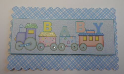 PK 2 BABY TOY TRAIN EMBELLISHMENT TOPPERS FOR CARDS OR CRAFTS