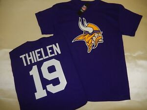 low priced 0fdda b000e Details about 9725 MENS NFL Minnesota Vikings ADAM THIELEN Football Jersey  Shirt New PURPLE