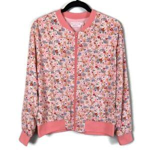 New-Stitch-Fix-Katie-Sturino-Palmer-Bomber-Jacket-Pink-Floral-Size-Medium