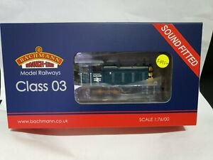 Bachmann-31-368DS-Class-03-03026-BR-Blue-Wasp-stripes-DCC-Sound-OO-gauge-BNIB