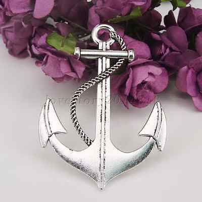 Wholesale Antique Alloy Boat Anchor Silver Charms Pendant Accessories Jewelry