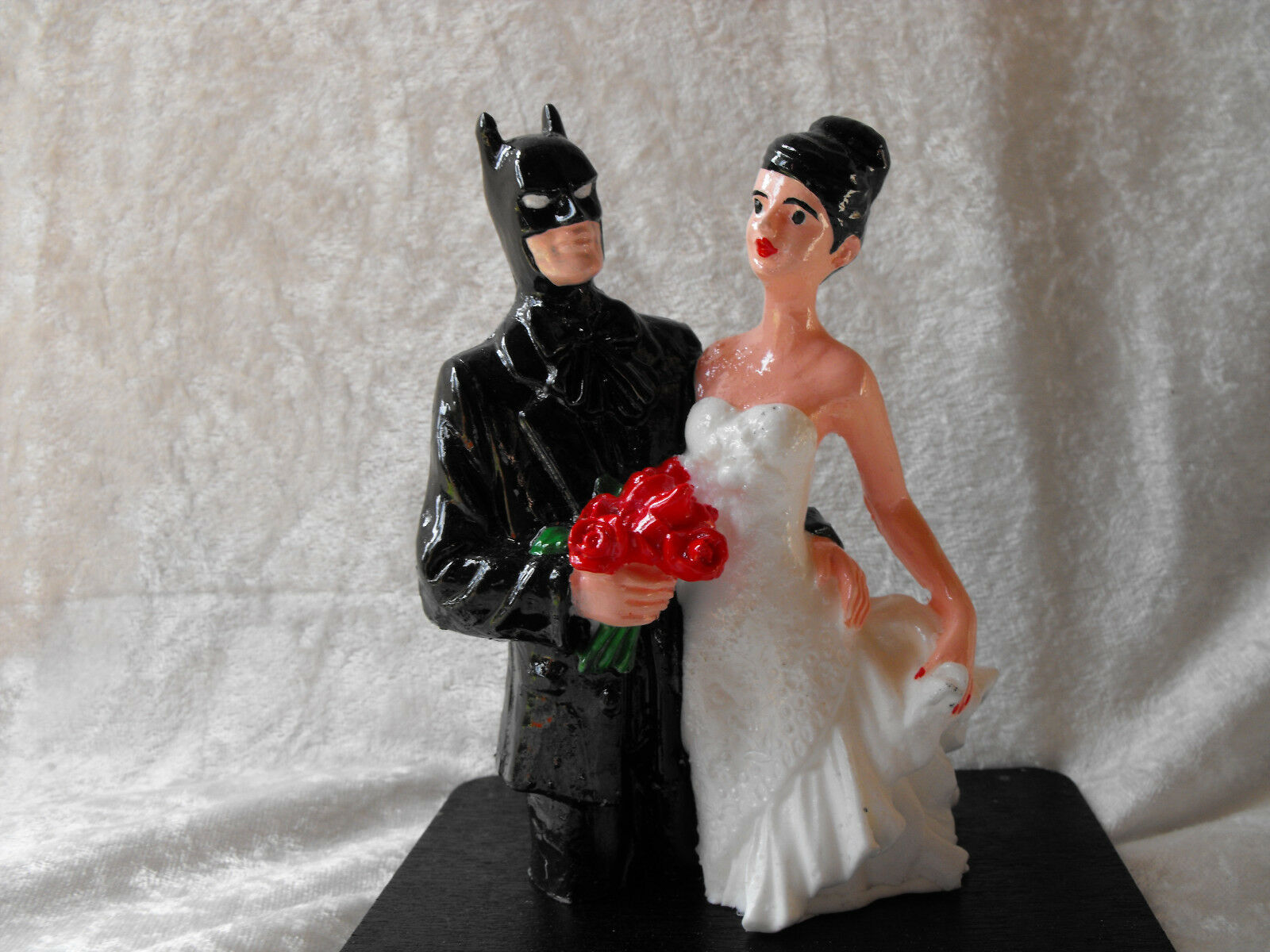 Batman and Bride Cake Topper - Handmade in the USA