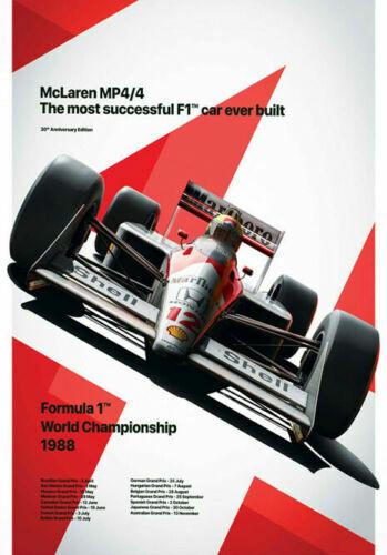 H-2559 Ayrton Senna F1 Formula Grand 1986 Super Racing Car Wall Silk Poster