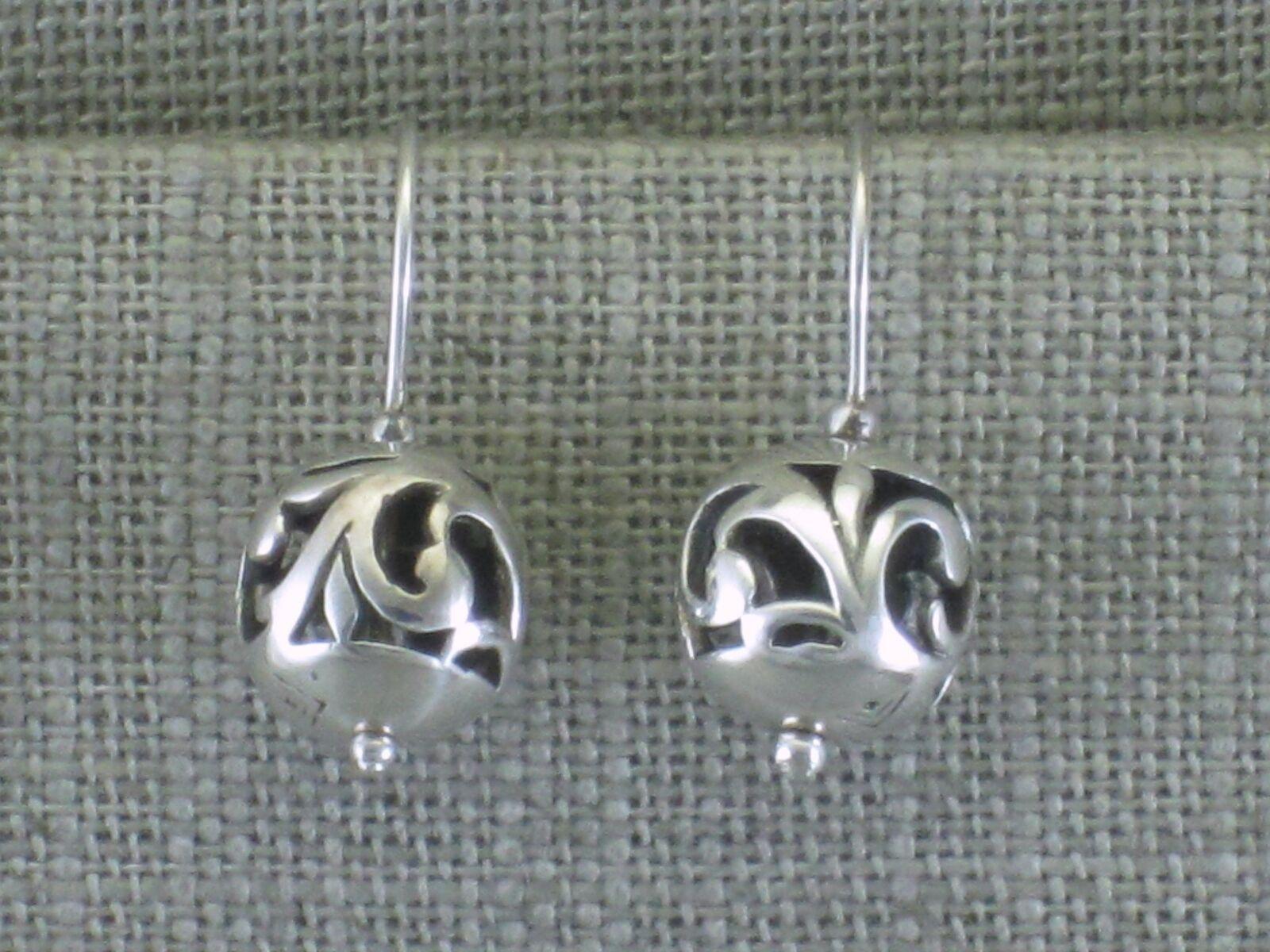 Silpada Sterling Silver Filigree Ball Pierced Wire Earrings