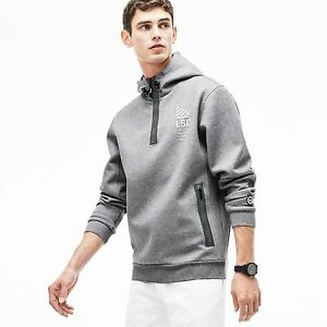 Lacoste Hooded Lettering Sweatshirt Chinewhite W Jersey Lsc Stone BqxrB1