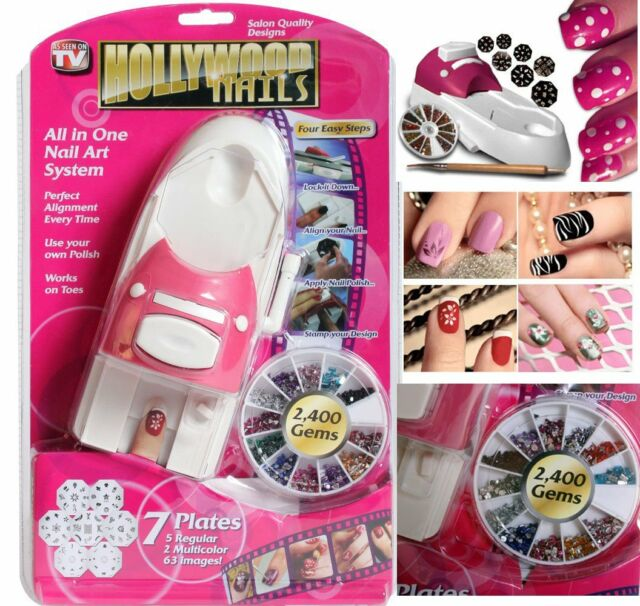Hollywood Nails All In One Professional Nail Art System Kit Set As