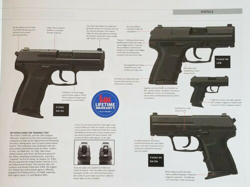 Heckler /& Koch HK Product Catalog Military dated 9//24//15 NEW 43 Pages
