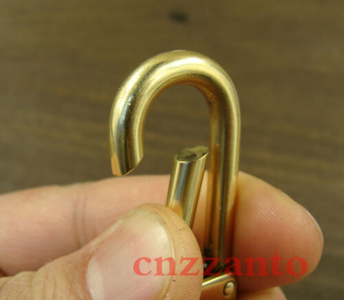 Handmade Solid Brass snap hook clips Fob key chain ring holder carabiner H235