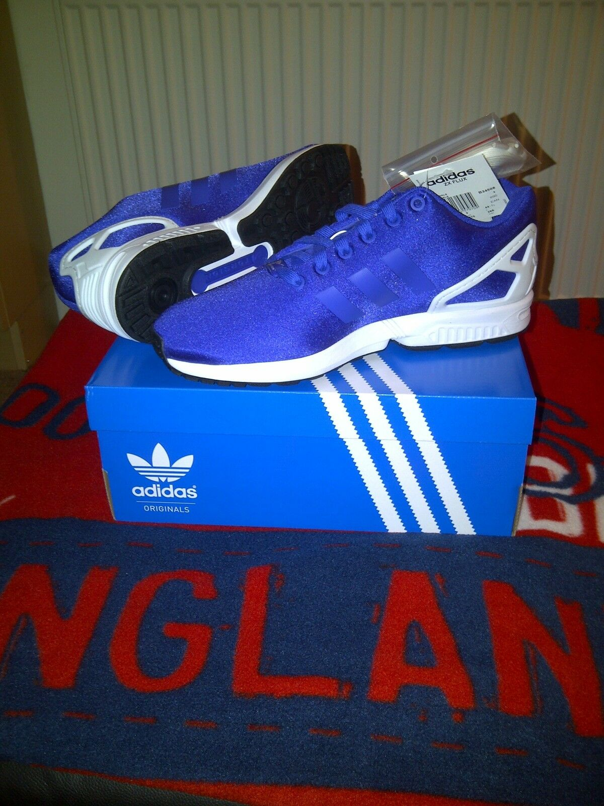 Adidas Adidas Adidas ZX Flux Violet... 100% authentique... Baskets Taille 9 UK... 43 1/3 euros 34c827