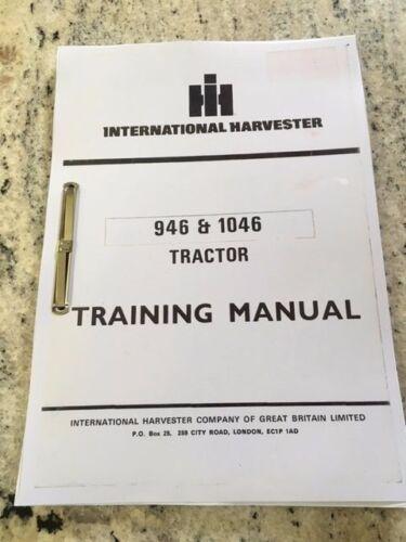 International Harvester 946 /& 1046 Tractor Manual De Capacitación
