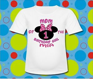 Image Is Loading Personalized Minnie Mouse Mom Of The Birthday Girl