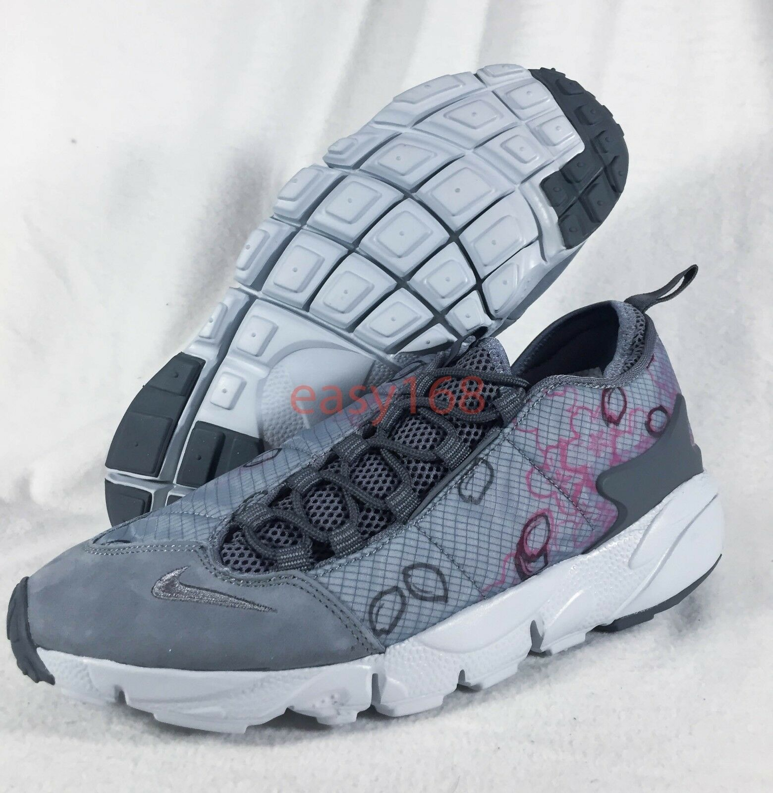 NEW NIKE AIR FOOTSCAPE NM PREMIUM Sz 9.5 QS SAKURA NDM GREY 43 PINK 8846786 NDM SAKURA 337121