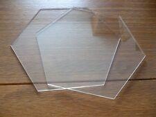 "8 inch Hexagon  Ganaching Plates Acrylic Cake Decorating Discs 8"""