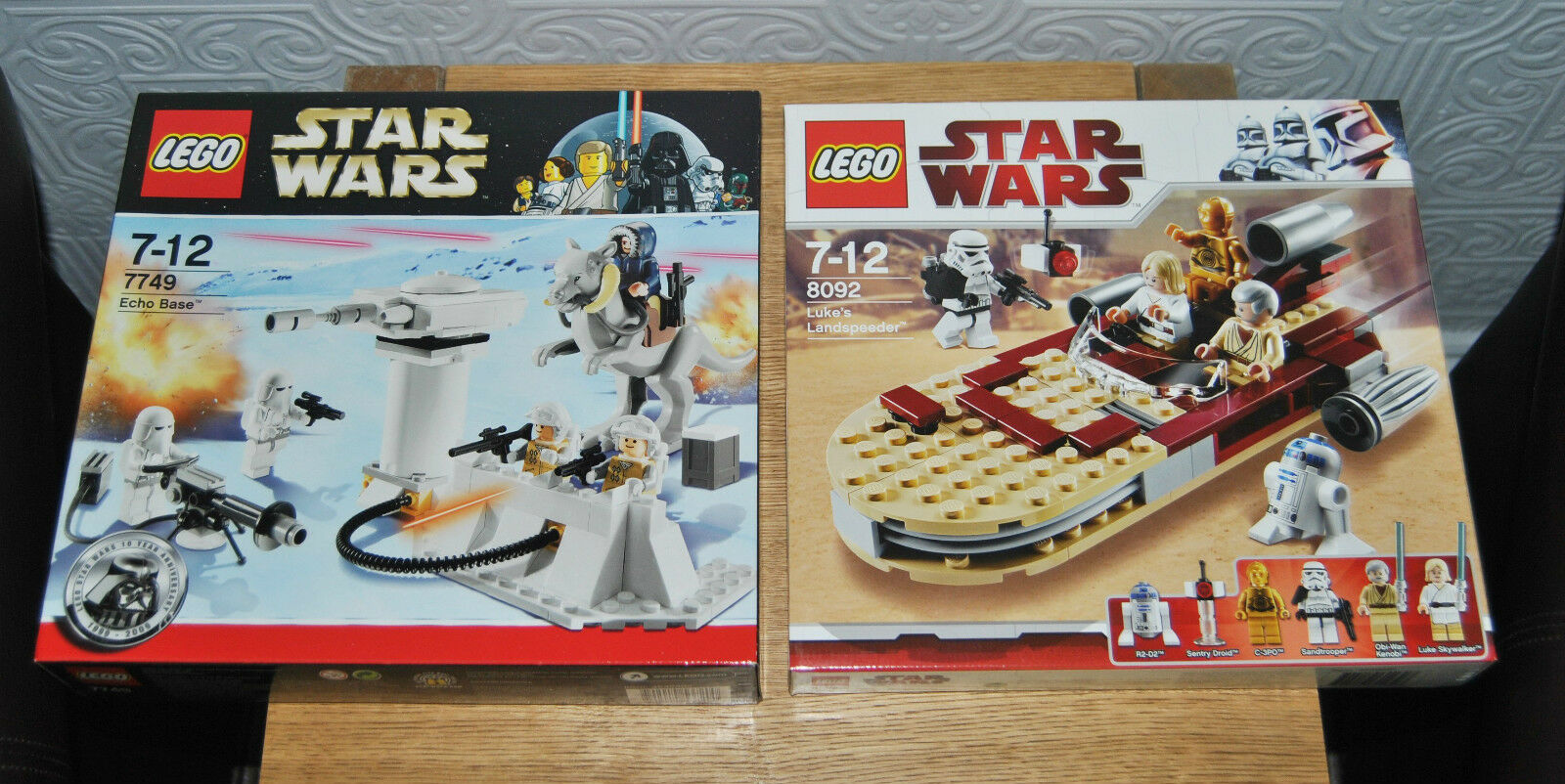 2 X Fab Lego Star Wars Sets. Luke's Landspeeder 8092 & Echo Base 7749. NEW