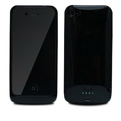 External Rechargeable LED 1400mAh Backup Battery Case Cover For AT&T iPhone 4