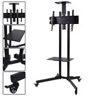 TV Cart Stand Plasma LCD LED Flat Screen Panel w/ Wheels Mobile Fits 32