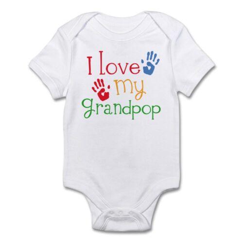 655833239 CafePress I Love Grandpop Infant Bodysuit Baby Bodysuit