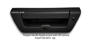 ford tailgate handle backup hd camera w zoom 2015 up f150 oem quality black. Black Bedroom Furniture Sets. Home Design Ideas