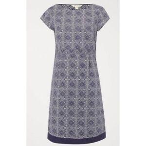 1db18120966 EX WHITE STUFF Purple Summer Short Sleeve Shift Dress Size 8 -16 ...