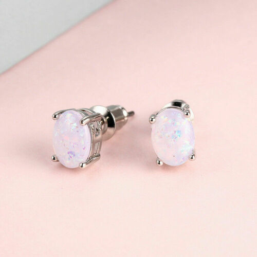 Women Opal Gems Earring Delicate Fashion Gift Jewelry The picture color