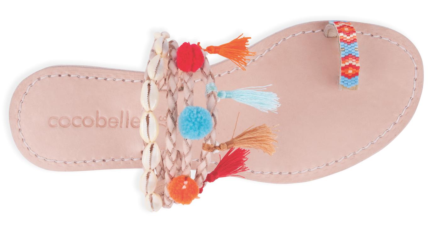 Cocobelle Donna`s Sandals Kopi Sandal Leather Slip On Slide Sandal Santa Fe  NWT