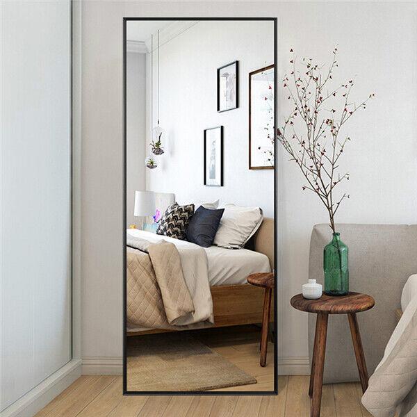 Floor Mirror Bedroom Wood Standing