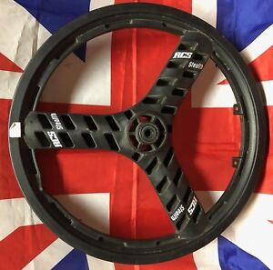 A-C-S-Stealth-Mag-Black-20-034-BMX-Injection-Molded-Three-Spoke-Wheel-Old-School