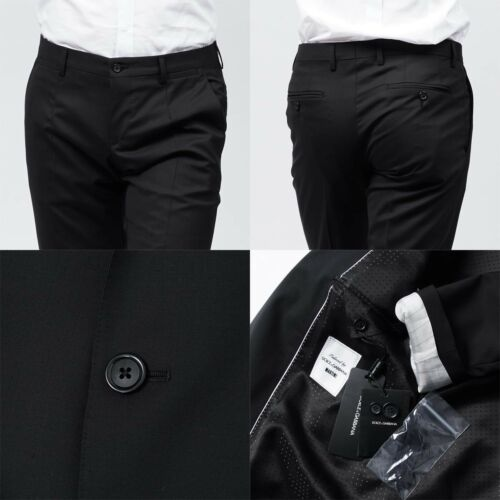 Dolce 50 Uk Eu 40 Silk piece amp; Suit 3 Size Slim fitting Martini Pure Gabbana rxrP6BTp