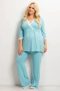 dbedbd034c Image is loading Mother-V-Neck-Maternity-Pajamas-Women-Nightwear-Pregnancy-