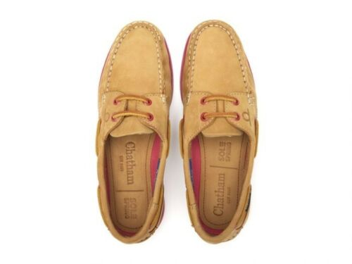 Ladies Chatham Pippa ll G2 Deck Shoes - Tan/Pink Size 4
