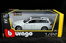 BMW 3 SERIES TOURING WHITE 1:24 Diecast Car Model Die Cast Cars white Metal