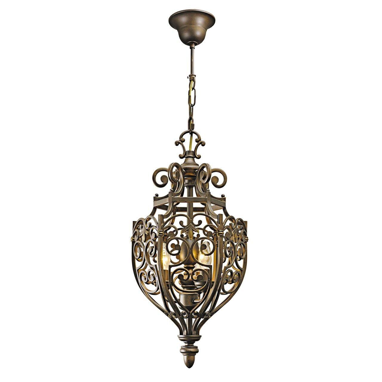 Lampadario a sospensione in ferro battuto in stile rustico 360W E14-escl