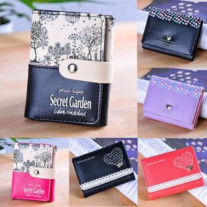 Women-Lady-PU-Leather-Clutch-Short-Black-Wallet-Card-Holder-Purse-Handbag-Bag