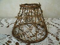 "Clip On Chandelier Lamp Shade 2.5x5x4"" - Grapevine Primitive Rustic Cabin"