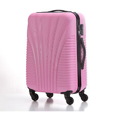 714d9a7bcdfe Hard Shell Cabin Suitcase Trolley Case 4 Wheel Luggage Spinner Ultra  Lightweight