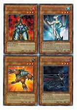 4-Rare set: Neo-Spacian Dark Panther_ Aqua Dolphin_FlareScarab_Grand Mole yugioh