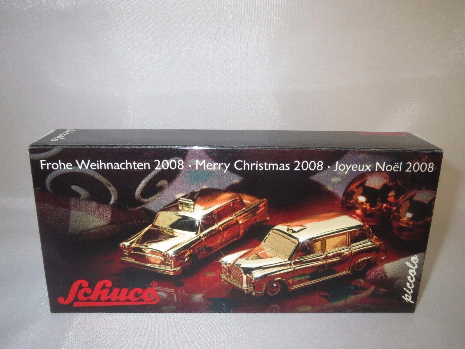 Schuco Piccolo set navidad  2008  (checker taxi taxi taxi & Austin FX) 1 90 embalaje original  50e912