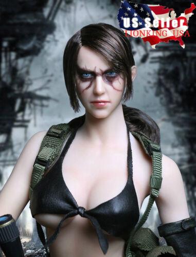 1//6 Metal Gear Solid Quiet Female Head sculpt BATTLE VERSION PHICEN Pale Figure