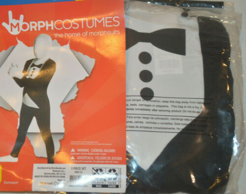 8-10 10-12 Large Boy/'s MorphCostumes Tuxedo Halloween Costume Jumpsuit M