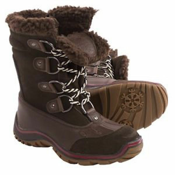 PAJAR 5 COFFEE BROWN LEATHER ALINA WATERPROOF SNOW BOOTS  39  8 8.5