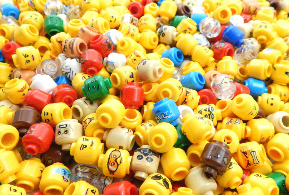 200 200 200 NEW LEGO MINIFIG HEADS random lot of minifigure heads male female ninjago 721a3f