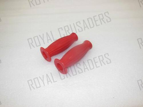 NEW VESPA AND LAMBRETTA BALLON BUBBLE GRIPS 22mm RED #VP468