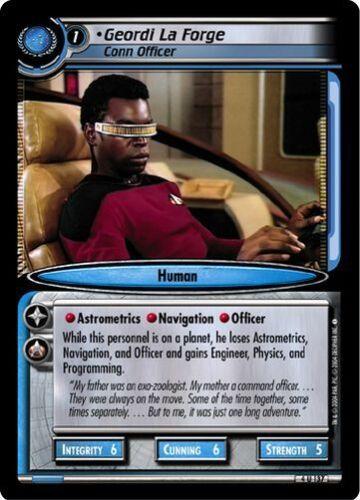 Star Trek CCG 2E Necessary Evil Geordi La Forge Conn Officer 4U137